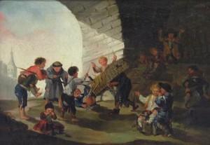 Cuadro de Goya donde se ve un encierro infantil